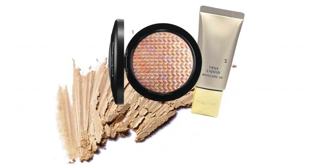 1. Phấn phủ mịn mượt và tạo điểm nhấn highlight với các hạt màu ánh nhũ lấp lánh giúp tạo độ sáng tinh tế (M•A•C). Giá: 870.000 VND. 2. Foundation cải thiện làn da mịn màng, rạng rỡ, căng đầy và che phủ hiệu quả lỗ chân lông, thâm nám... (Shiseido). Giá: 850.000 VND.