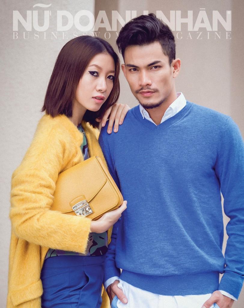 Nữ: Sweatshirt, áo khoác, quần Max&Co; clutch hộp Furla Nam: Sơ mi, quần Suit up by Sid; Áo len Gap