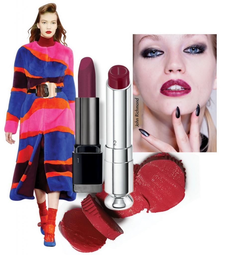 1.Son lâu trôi Make Up Forever Rouge Artist Intense 2. Son độ dưỡng cao Dior Addict Lipstick
