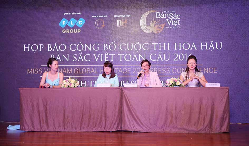 """Ban tổ chức trả lời các câu hỏi của báo chí tại buổi Họp báo công bố cuộc thi """"Hoa hậu Bản sắc Việt toàn cầu 2016"""""""