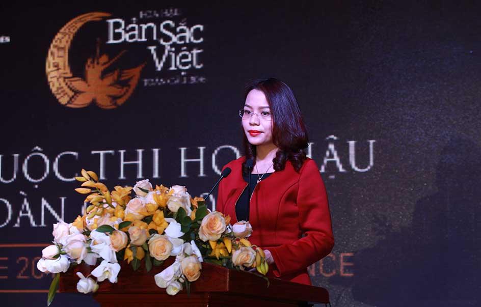 Bà Hương Trần Kiều Dung – Tổng Giám đốc Tập đoàn FLC phát biểu khai mạc buổi họp báo