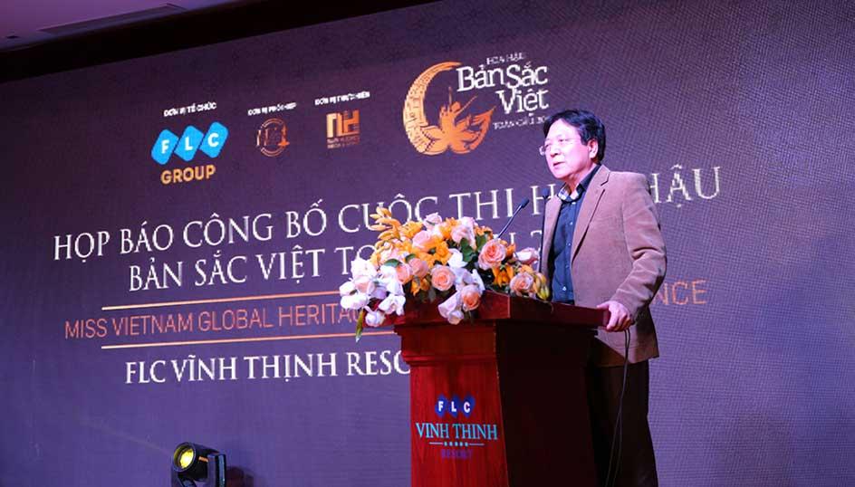 Ông Vương Duy Biên – Thứ trưởng Bộ Văn Hóa, Thể thao và du lịch phát biểu chúc mừng Tập đoàn FLC và cuộc thi.