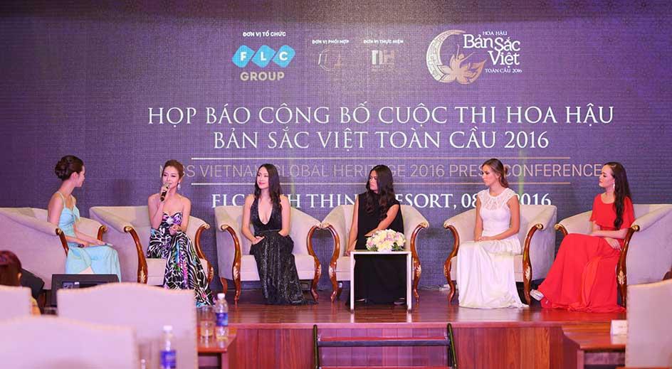 Các hoa hậu quốc tế giao lưu, chia sẻ tại buổi họp báo