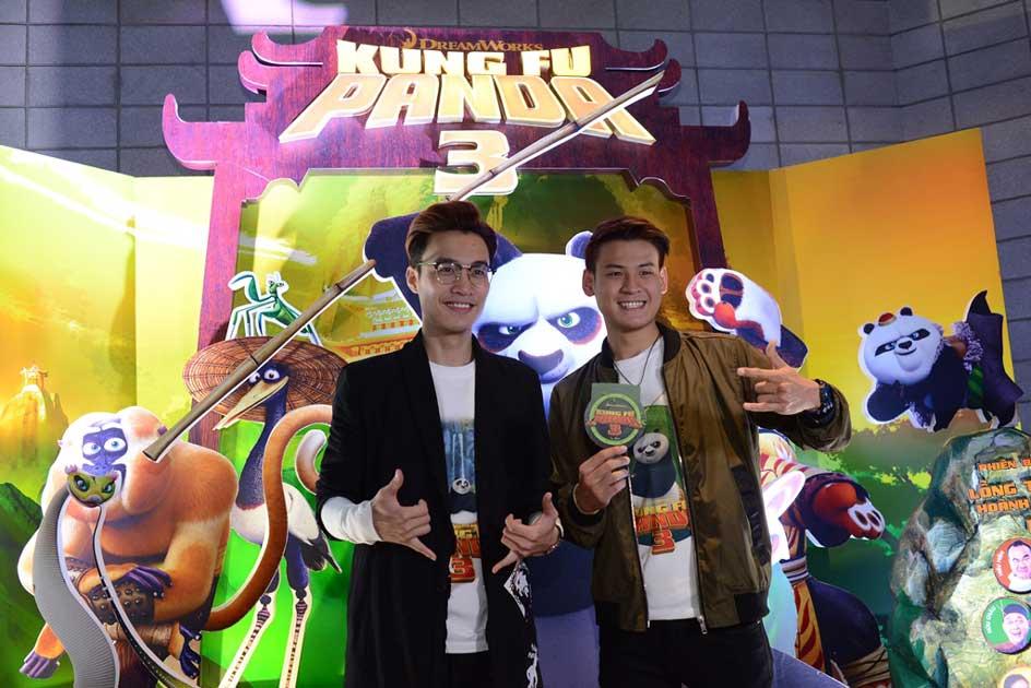 Anh Duy và Phan Nguyễn tại buổi ra mắt phim