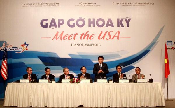 Chủ tịch UBND TP HN Nguyễn Đức Chung phát biểu tại buổi tọa đàm.