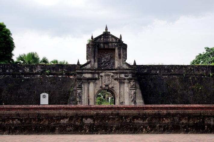 Một góc khu thành cổ Intramuros - nơi còn mang nhiều dấu ấn văn hóa tây Ban Nha độc đáo