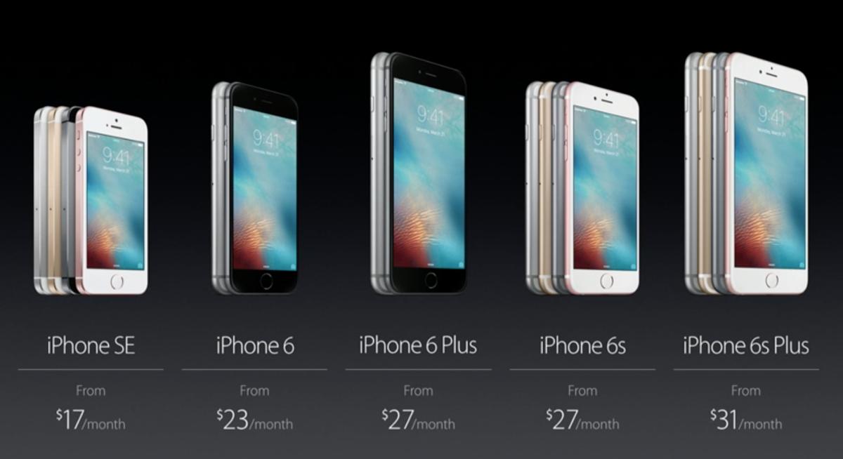 iPhone SE có màn hình 4inch