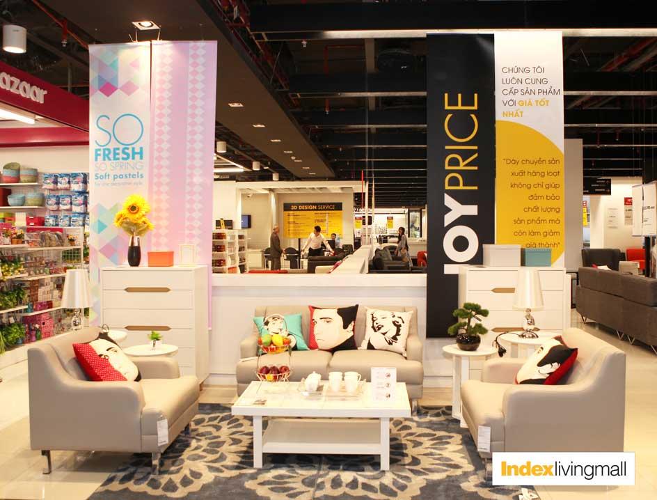 Hình ảnh: khu vực trưng bày và kinh doanh nội thất của Index Living Mall Times City