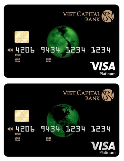 Thẻ Viet Capital Visa Platinum với công nghệ 3D duy nhất trên thị trường.