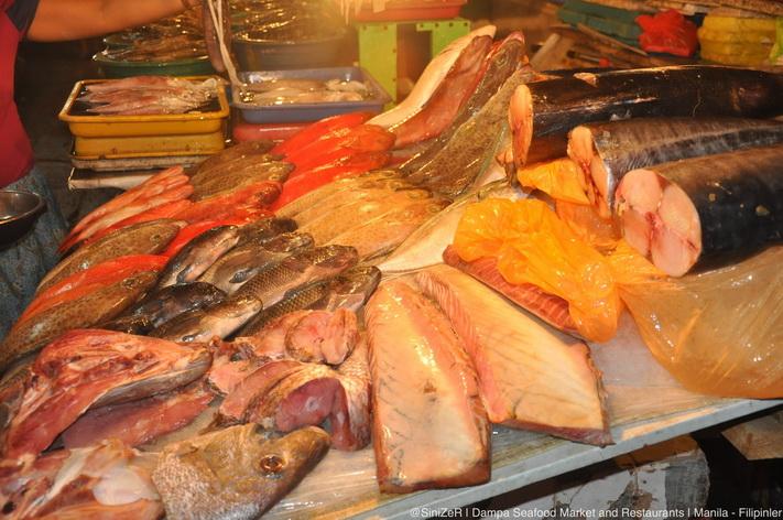 Hải sản tươi ở chợ Dampa