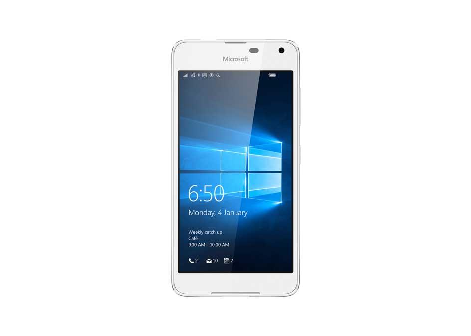 Lumia 650 có hai màu đen, trắng