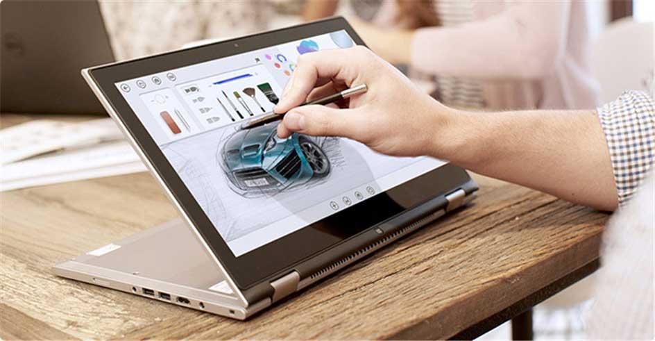Inspiron 7359 được trang bị bút Stylus giúp người dùng thao tác nhanh