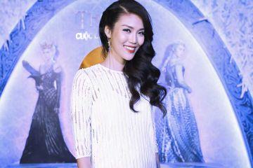 Hoa hậu Lan Khuê rạng rỡ tại buổi giới thiệu phim