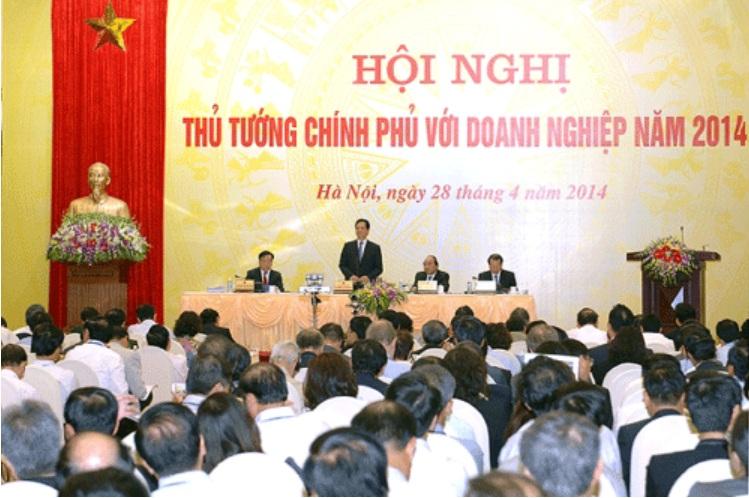 Hội nghị Thủ tướng chính phủ với Doanh nghiệp vào năm 2014.