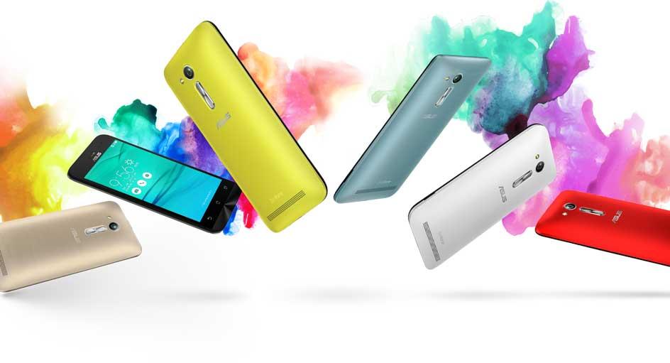 Bộ sưu tập sắc màu mới của Zenfone Go.