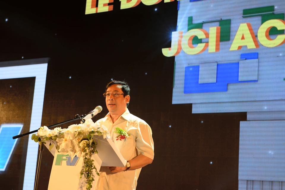 Ông Lương Ngọc Khuê - Cuc trưởng Cục quản lý khám chữa bệnh Bộ Y tế phát biểu tại buổi Lễ đón nhận chứng nhận chất lượng y tế quốc tế JCI.