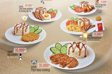 5 món cơm mới ra mắt tại McDonald's Việt Nam.