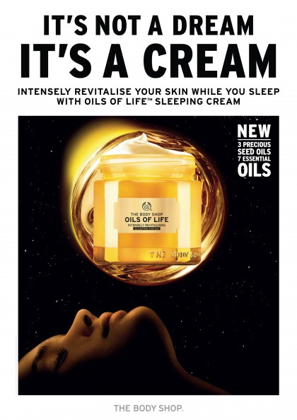 Oils of Life Intensely Revitalising Sleeping Cream Poster_Eng