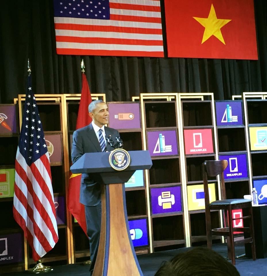 Tổng thống Obama phát biểu trước các doanh nghiệp.