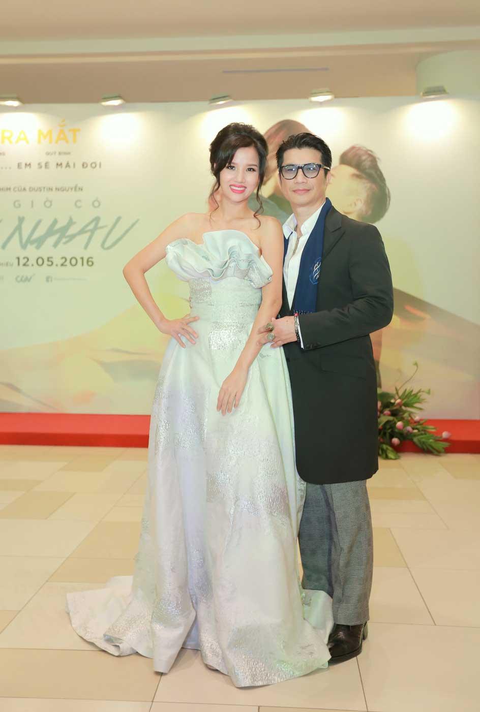 Vợ chồng đạo diễn Dustin Nguyễn
