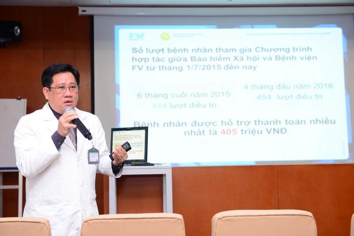 Bác sĩ Võ Kim Điền, Trưởng Khoa Ung Bướu – Bệnh viện FV.