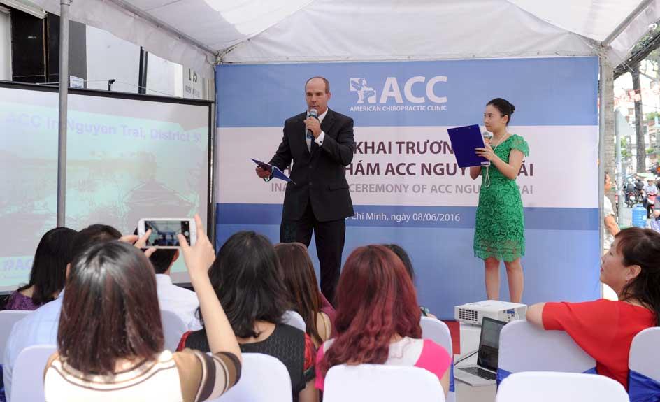 Buổi họp báo giới thiệu phòng khám ACC thứ 3.
