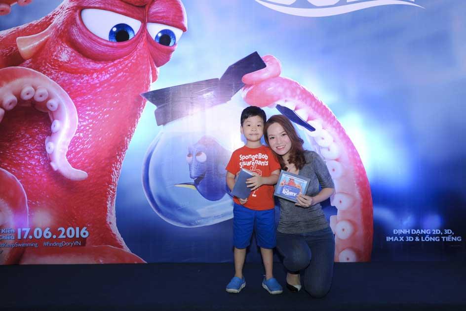 MC Đan Lê và con trai