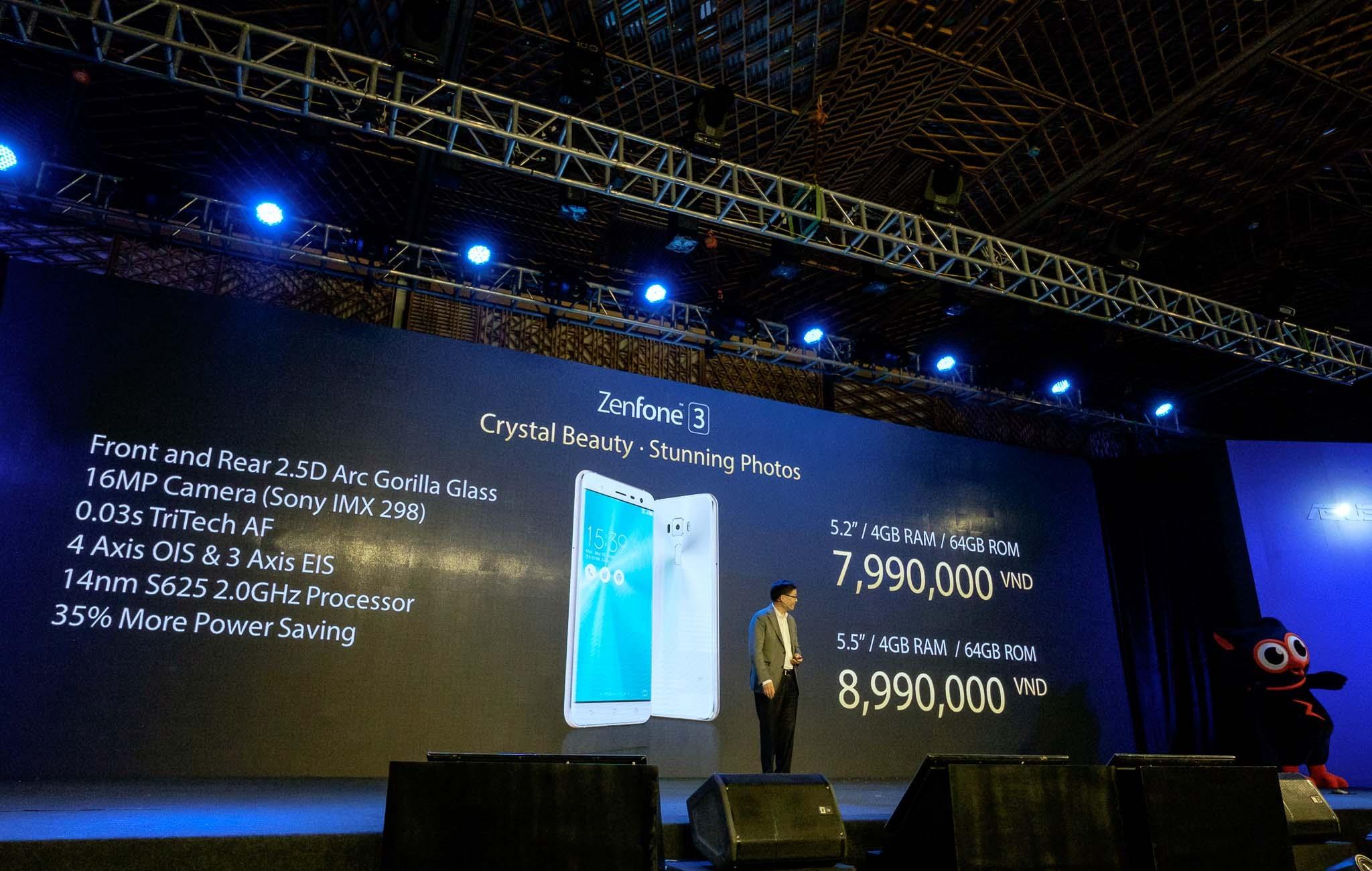 Giá bán và cấu hình của Zenfone 3.