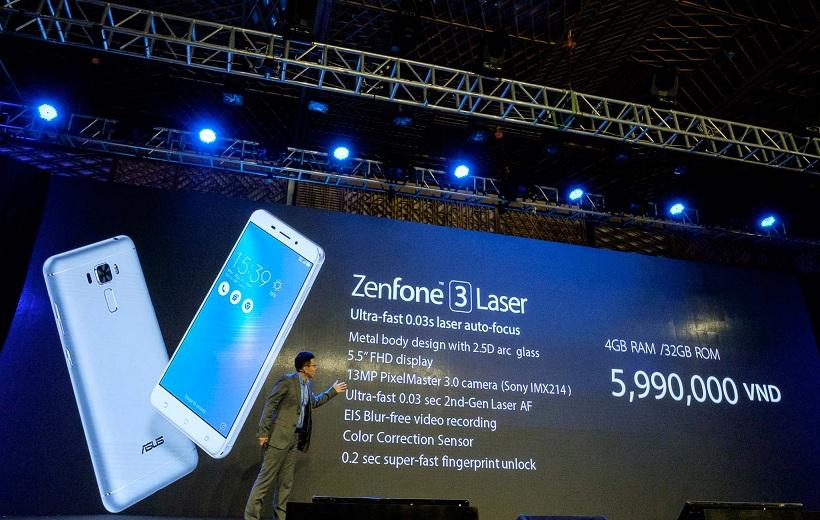 Giá bán và cấu hình của Zenfone 3 Laser.