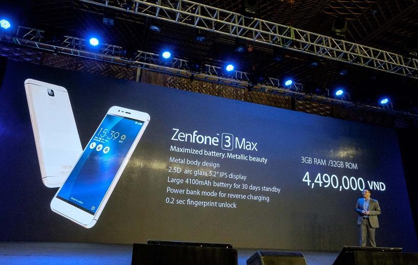 Giá bán và cấu hình của Zenfone 3 Max.