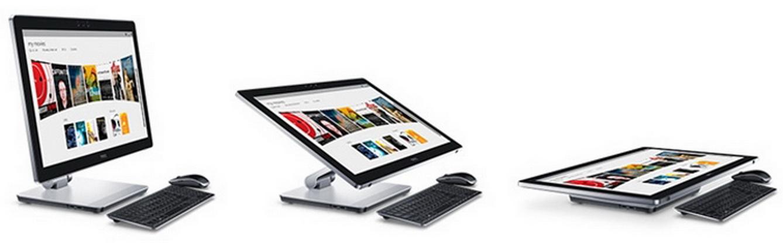 Inspiron AIO 7459 được thiết kế với khớp nối đứng cho phép người dùng nghiêng màn hình từ -5° đến 60°.
