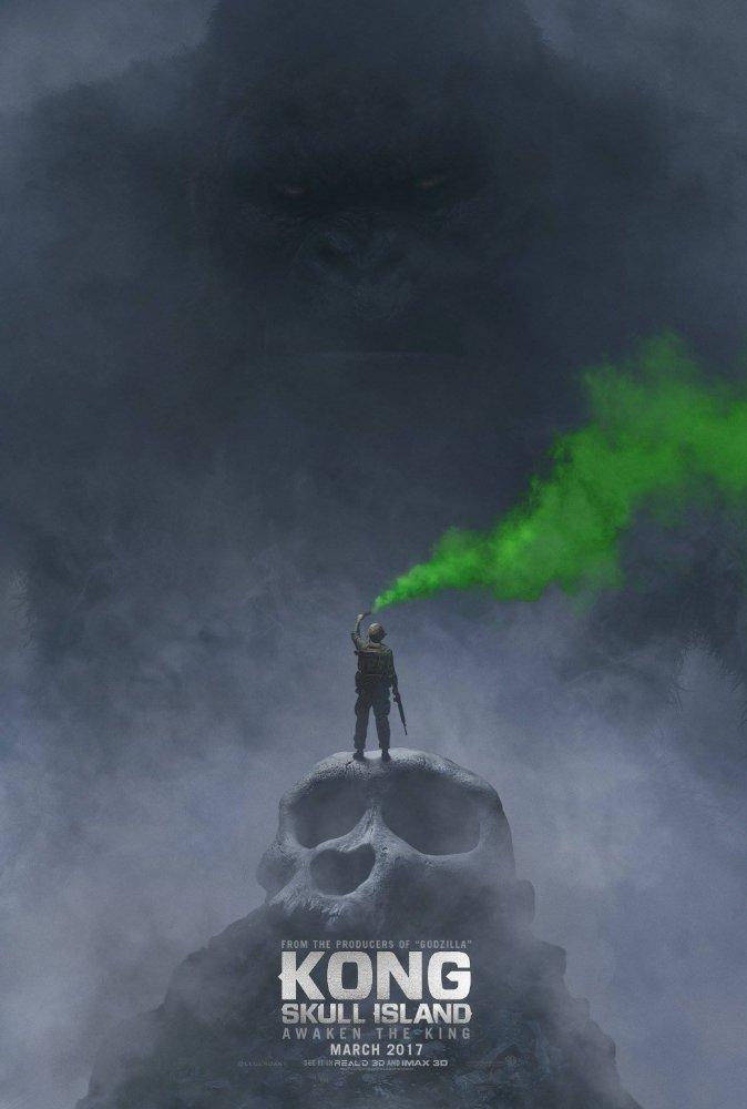 Một trong những poster phim đầu tiên của Kong: Skull Island.