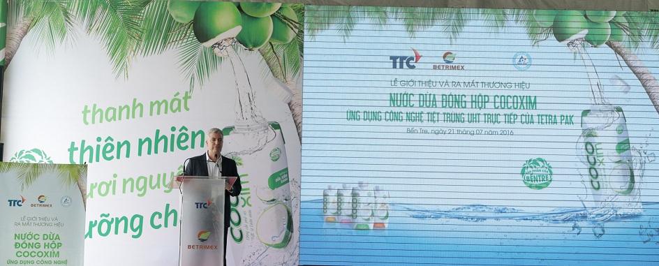 Ông Robert Graves, Tổng Giám đốc Tetra Pak Việt Nam phát biểu