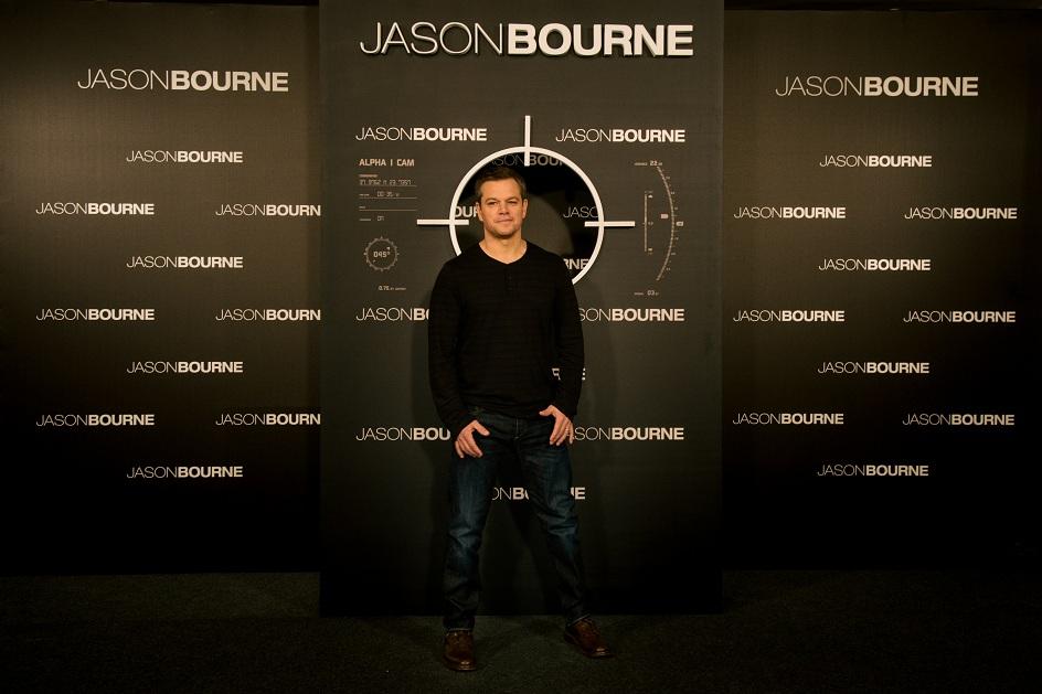 Tài tử Matt Damon vào vai siêu điệp viên Jason Bourne.