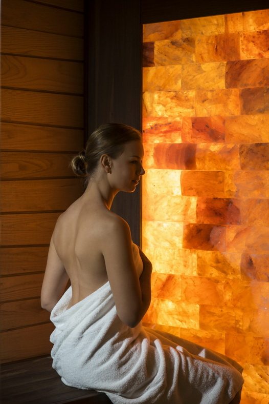 The Reverie Saigon - The Spa - Sauna with Model_resize