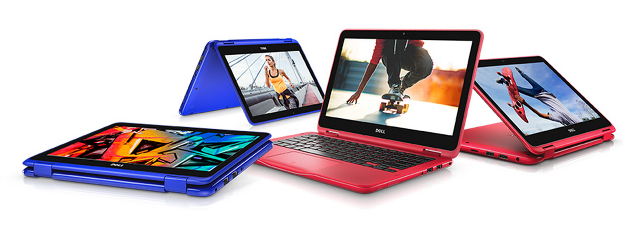 Inspiron 3169 thiết kế gập xoay 360 độ, nhiều sắc màu để chọn lựa