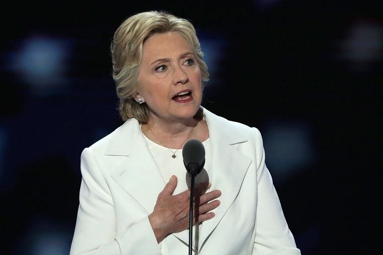 Hillary Clinton phát biểu tại đại hội đảng Cộng hòa Mỹ.
