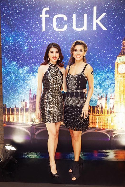 Quỳnh Châu và Minh Tú khoe dáng chuẩn với những mẫu đầm tiệc nổi bật của fcuk