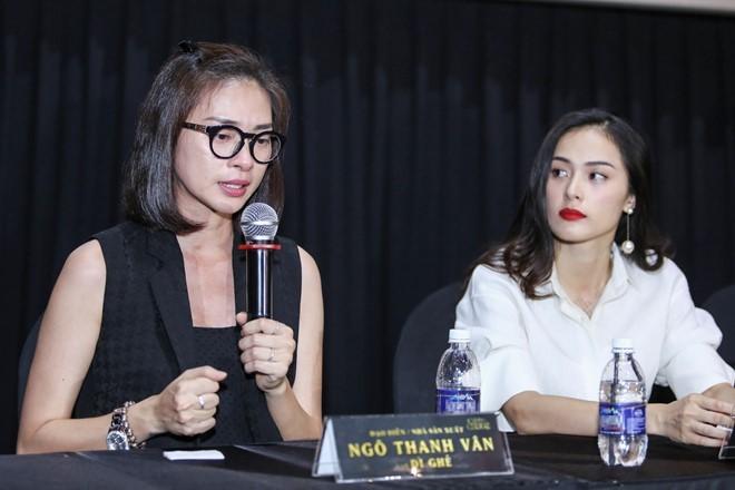 Đạo diễn Ngô Thanh Vân phát biểu trong họp báo tại TP HCM ngày 17/8. Ảnh: Nguyễn Thành.