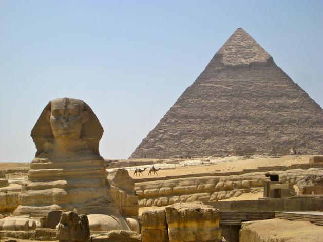 Tượng Nhân sư ở Khu phức hợp kim tự tháp Khufu