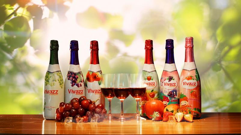 Nước trái cây có gas Vivazz phù hợp cho cả trẻ em và người lớn
