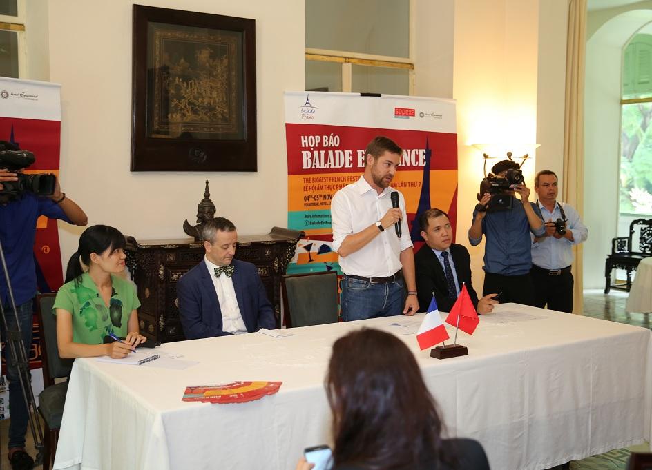 Hình ảnh tại buổi họp báo ngày 11/10 vừa qua tại Lãnh sự quán Pháp tại Tp.HCM.