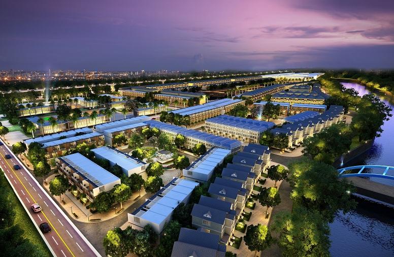 Lakeview City có tổng diện tích lên đến 30ha nhưng sở hữu mật độ xây dựng thấp.