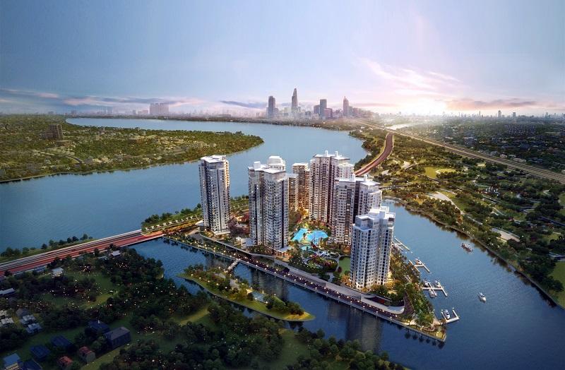 Diamond Island - dự án khu căn hộ cao cấp ven sông được lựa chọn nhiều nhất hiện nay.