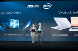 NDN_ASUS pho dien loat Zenbook sieu mong tai Computex 2017_Intel Corporate Vice President Gregory Bryant joins ASUS Chairman Jonney Shih at Computex to celebrate longtime partnership_abccccc