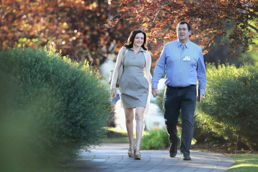 FILE  Dave Goldberg, Husband of Sheryl Sandberg And Silicon Valley  Entrepreneur Has Died Suddenly Aged 47 SUN VALLEY, ID - JULY 09:  Sheryl Sandberg, chief operating officer (COO) of Facebook, and her husband David Goldberg, CEO of SurveyMonkey, attend the Allen & Company Sun Valley Conference on July 9, 2014 in Sun Valley, Idaho. Many of the worlds wealthiest and most powerful businessmen from media, finance, and technology attend the annual week-long conference which is in its 32nd year.  (Photo by Scott Olson/Getty Images)