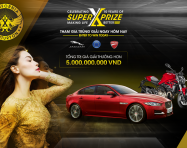 Cơ hội sở hữu siêu xe thể thao Jaguar tại SUPER X-PRIZE