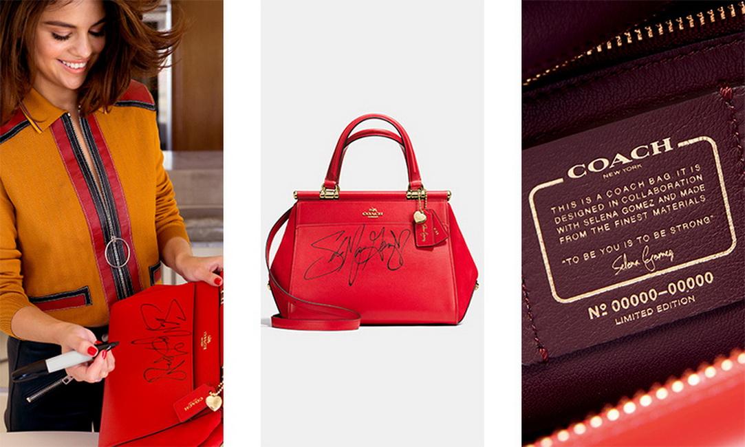 Không chỉ có chữ ký của nữ ca sĩ, dòng túi Coach X Selena Gomez còn có tag đính kèm chứng nhận chiếc túi là phiên bản giới hạn, được hợp tác với Selena Gomez.