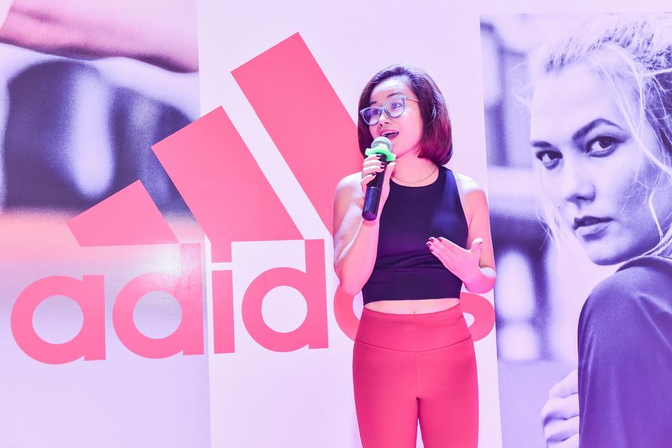 Đại diện adidas phát biểu tại sự kiện