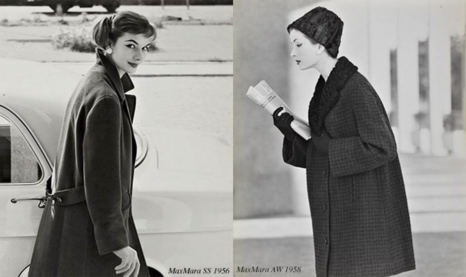 BST áo khoác Xuân Hè 1956 (trái) và BST áo khoác Thu Đông 1958